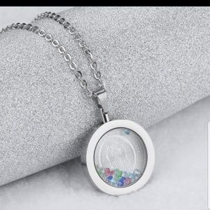 Jewelry - Virgen De Guadalupe Silver Necklace Floating Charm